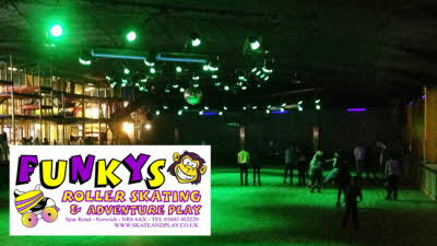 Offer image for: Funkys Roller Skating & Adventure Play - Free skate hire with one full paying skate admission.