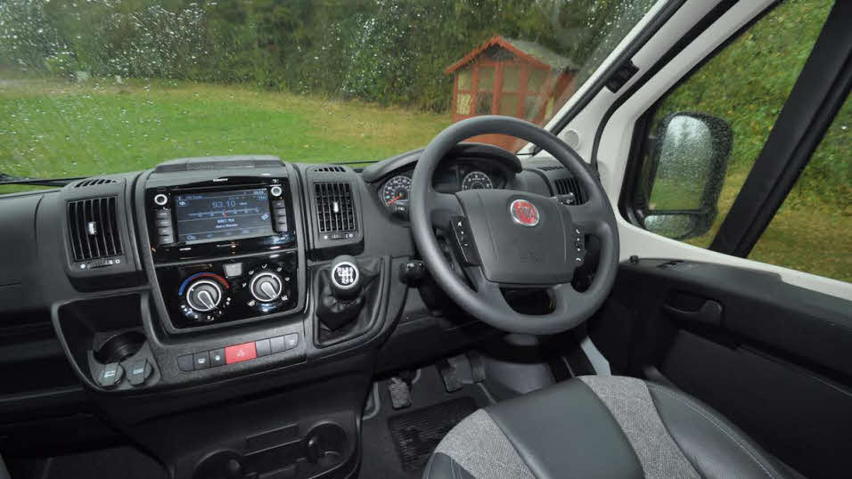 Auto-Trail Adventure 65 LB steering wheel and dashboard