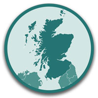 click this icon to see a list of caravan and motorhome sites and parks in Scotland