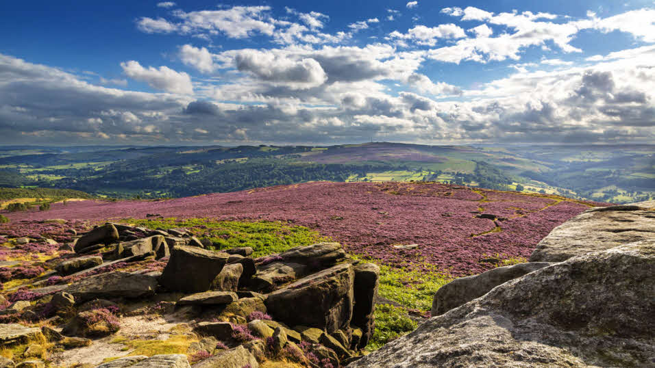 Hathersage Moor in Peak District National Park