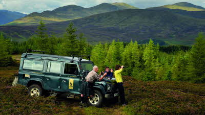 Offer image for: Highland Safaris - 10% discount on any one activity. Park up overnight for only £15 and receive 15% off breakfast in the café. Pre-booking required.