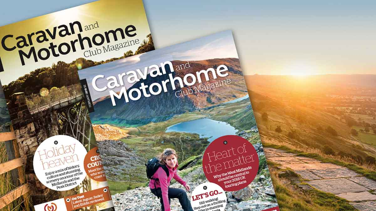 our monthly club magazine is sent to all members of the caravan and motorhome club with the latest news and tips and stories