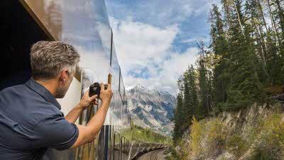 Rocky Mountaineer viewing platform