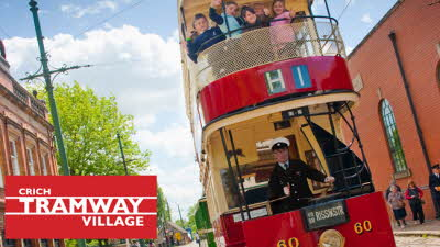 Offer image for: Crich Tramway Village - Two for the price of one.