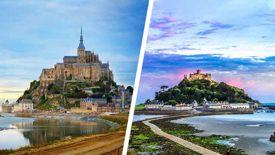 le mont saint michel and saint michaels mount