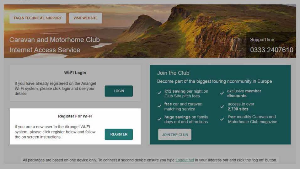 Help with Wi-Fi   The Caravan Club