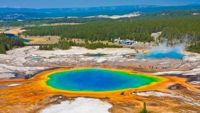 Yellowstone Prismatic Geyser