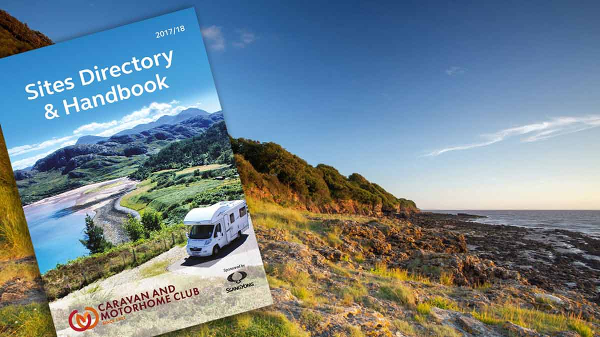 all members of the caravan and motorhome club receive a site directory and handbook listing all the club sites in the uk and overseas for 2018