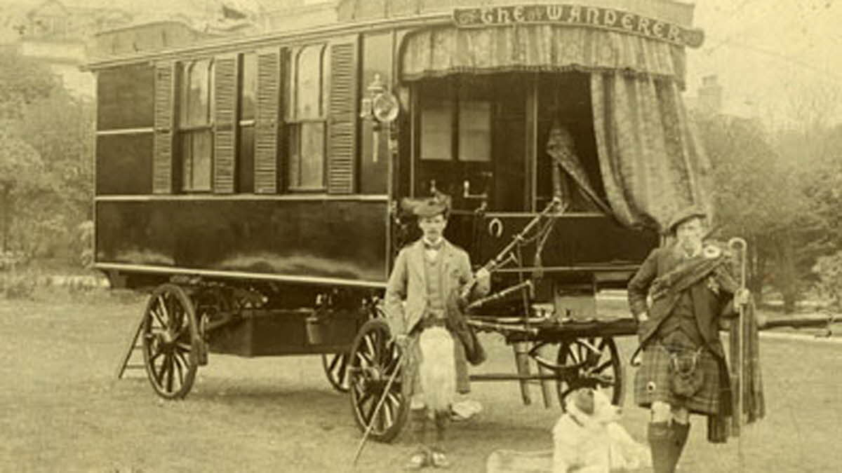 The first ever horse drawn caravan