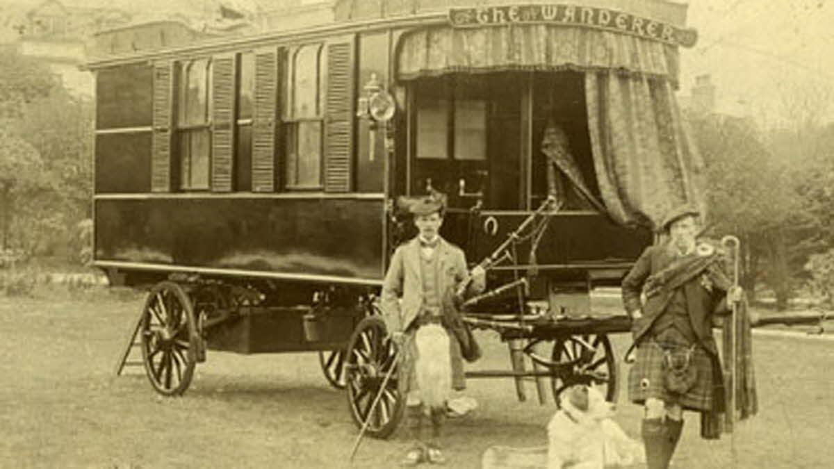 The first ever horse drawn caravan