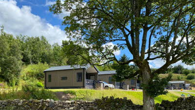 Glamping cabin at Troutbeck