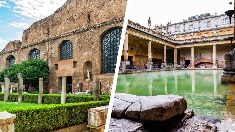 baths of diocletian in rome and great bath in bath