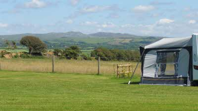 Dunree Certificated Location, PL33 9DY, Cornwall, Camelford, CL owner, 2020, pitch, grass, field, awning, trees
