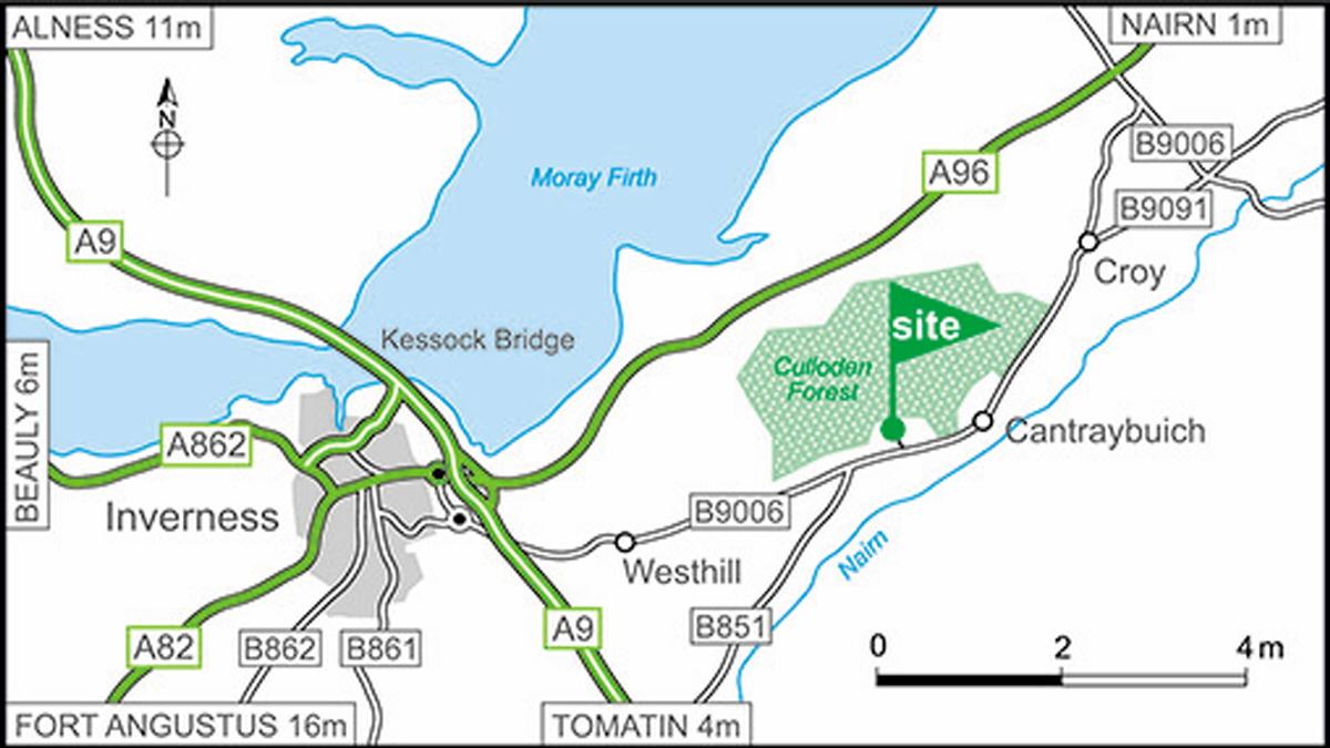 Culloden Moor Club Site   The Caravan Club