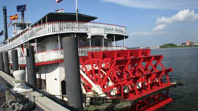 New Orleans paddle steam boat