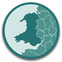 click this icon to see a list of caravan and motorhome sites and parks in Wales