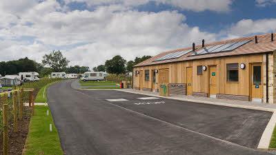 Campsite facility block at Teesdale Barnard Castle