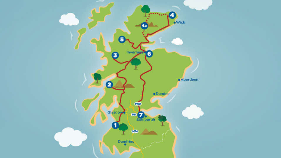 Nature & History tour route map