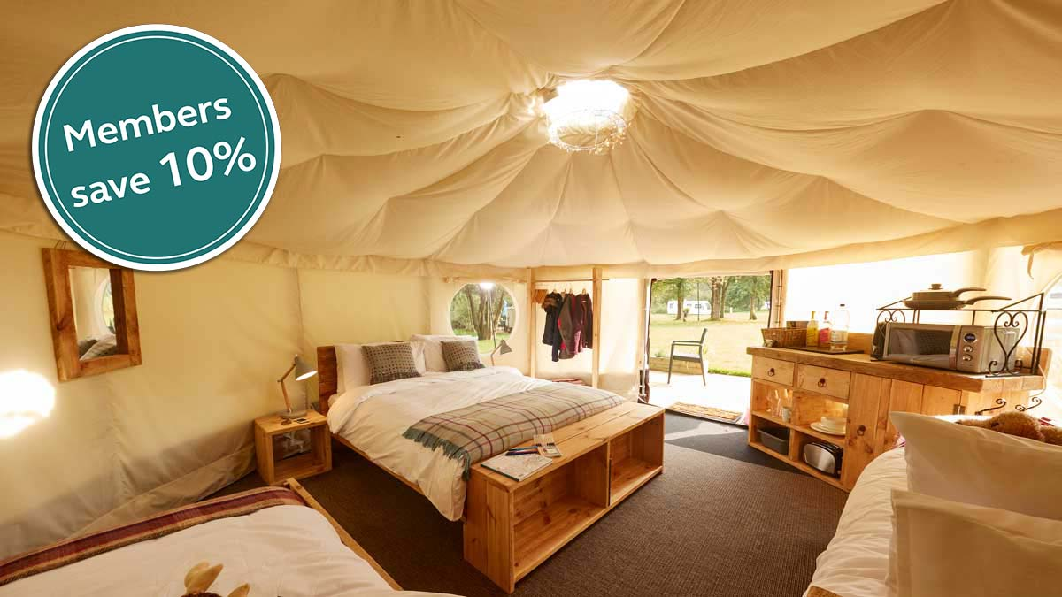 Visit Experience Freedom to find glamping sites