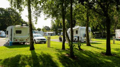 Caravans and motorhomes at Chester Fairoaks Club Site