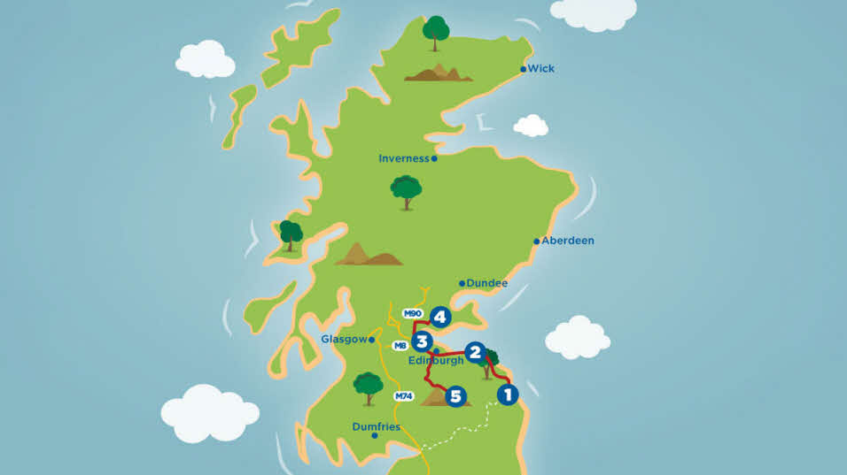Adventure in Scotland caravan and motorhome tour